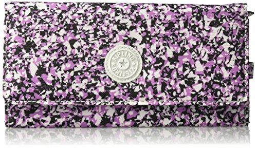 New Teddi Printed Continental Wallet Wallet, OCEAN BREEZE PURPLE, One Size by Kipling