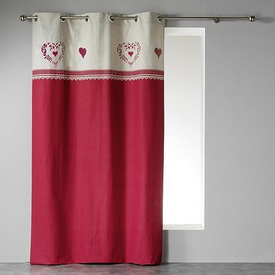 rideau campagne rouge amazing un rideau ray rouge et marronpr t poser textiles et tapis par. Black Bedroom Furniture Sets. Home Design Ideas