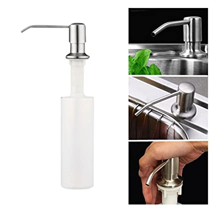 AOLVO Kitchen Sink Soap DispenserStainless Steel Pump Dispenser Liquid Lotion Spray Bottle Dispensers Head  sc 1 st  Amazon.com & Amazon.com: AOLVO Kitchen Sink Soap DispenserStainless Steel Pump ...