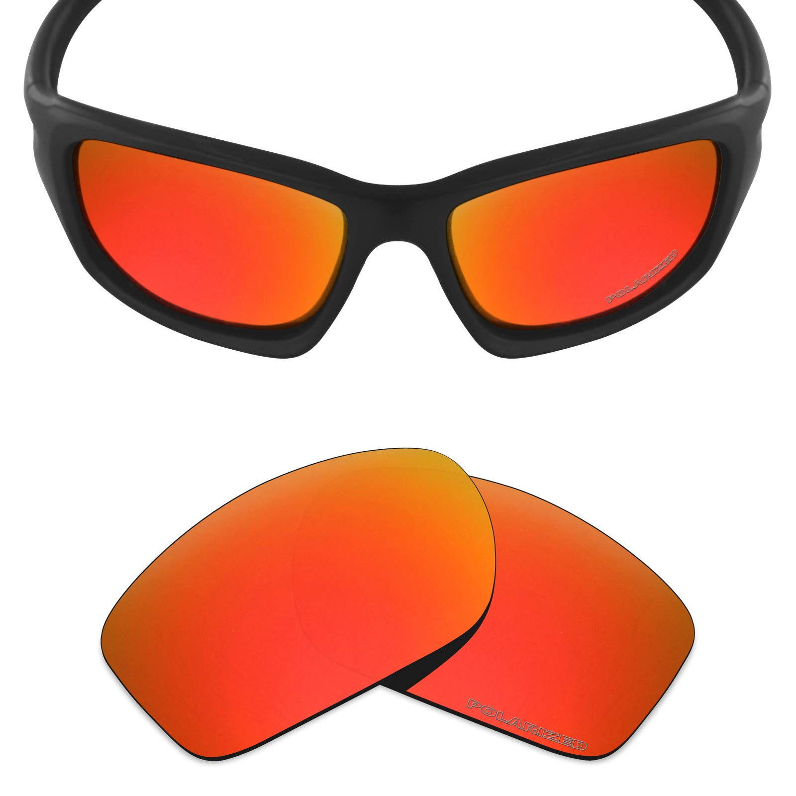 b8ea2687ee0 Mryok+ Polarized Replacement Lenses for Oakley Valve New 2014 - Fire Red