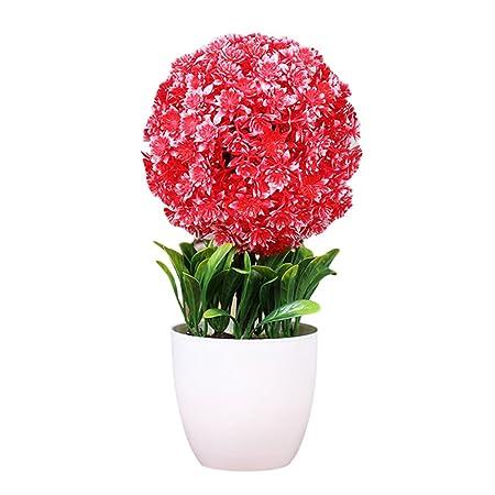 Zhhlinyuan Künstliche Pflanze Schneeball Blume Simulation Dekorative ...