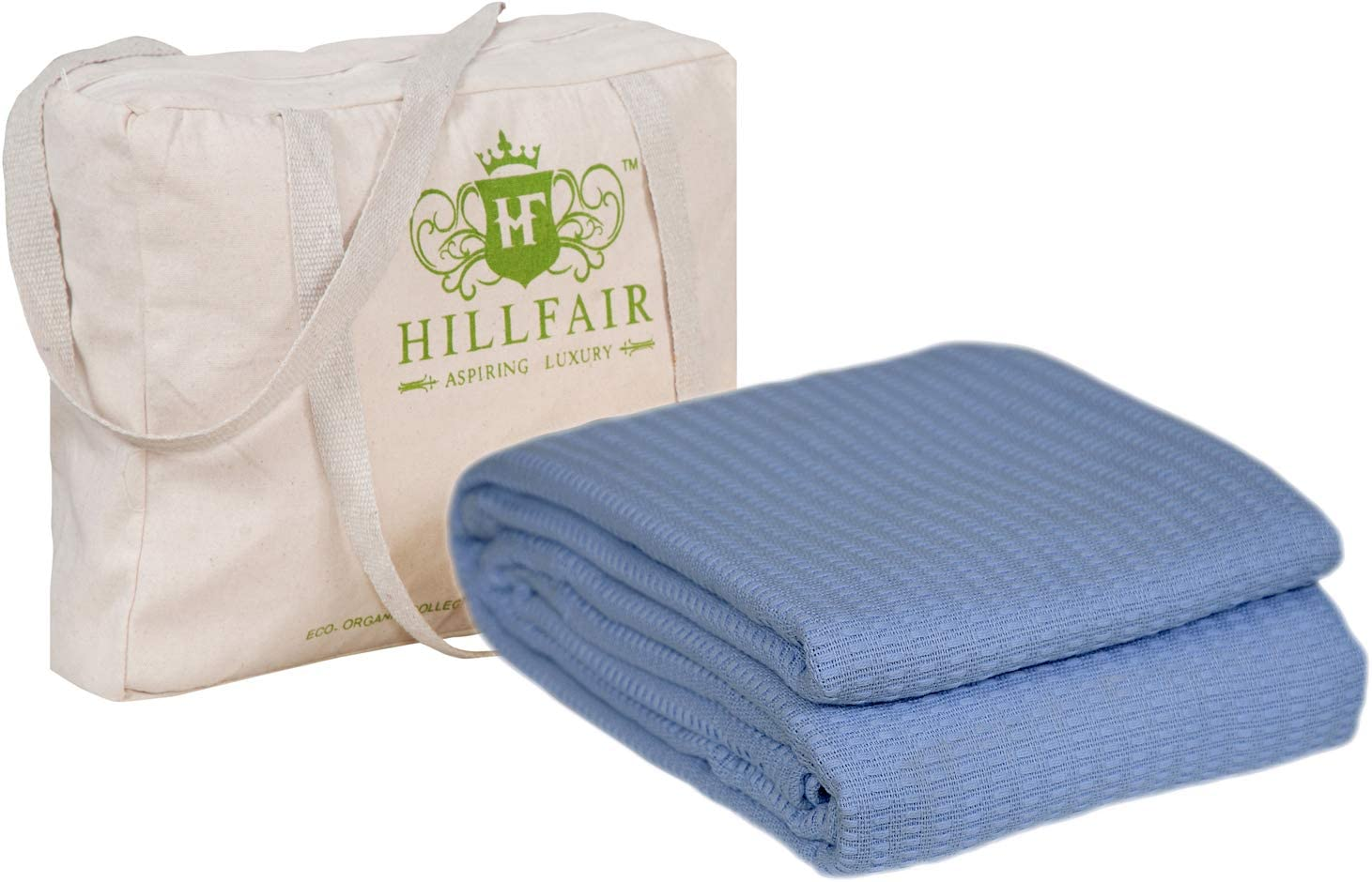 Hillfair 100 Certified Organic Cotton Winter Blankets Twin Size Bed Blankets All Season Cotton Blanket Organic Cotton Bed Blankets Soft Multipurpose Twin Blankets Blue Twin Size Blanket Kitchen Dining Amazon Com