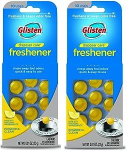 Glisten Garbage Disposer Freshener, Lemon Scent, 2-Pack