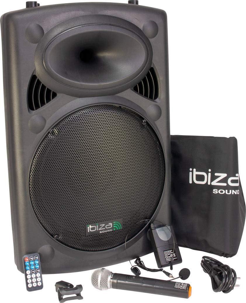 Ibiza Sound PORT15VHF-BT Sistema de sonido portátil y autónomo de 15