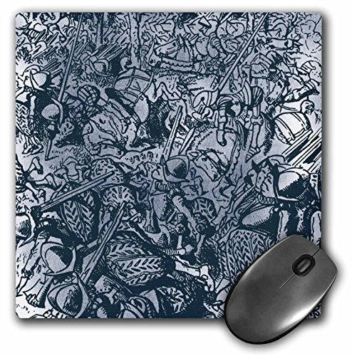 3dRose PS Vintage - All the Kings Horses and All the Kings Men Vintage - MousePad (mp_110217_1)