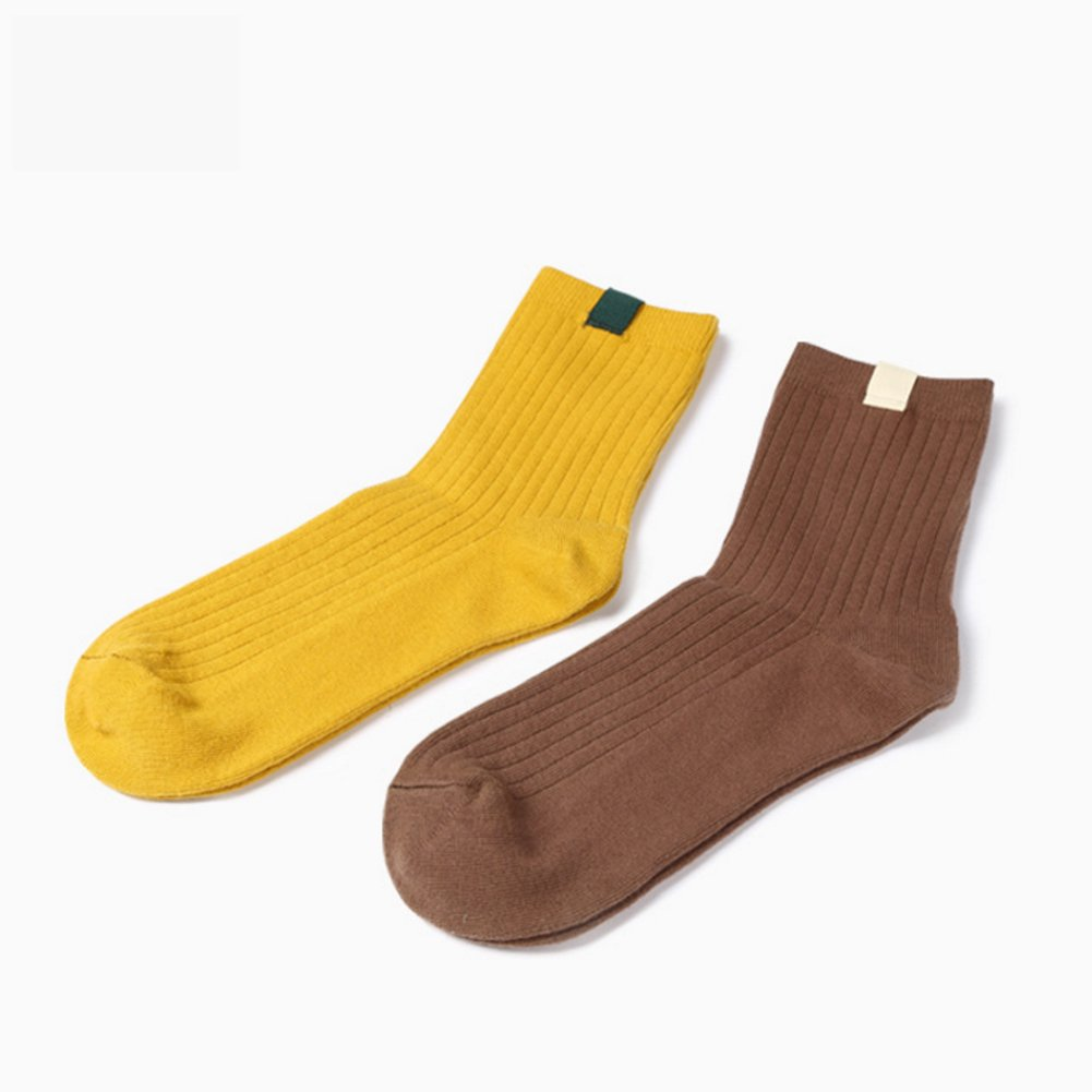 Womens Crew Socks AZB Colorful Cotton Dress Socks 5 Pairs-WZ009