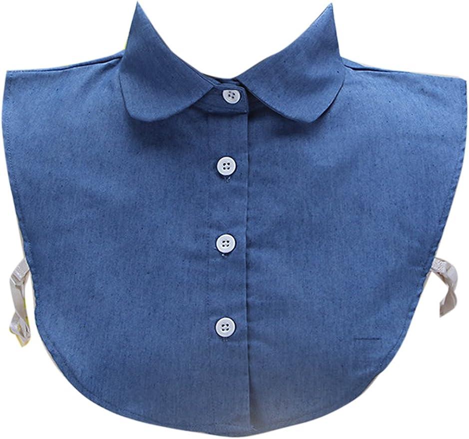 Yacun La Mujer Media Camisa Blusa Tops Falsos Cuellos Desmontables 1 One Size: Amazon.es: Ropa y accesorios