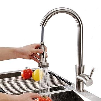 Super Homelody 360° drehbar Wasserhahn Küche ausziehbar Armatur IY12