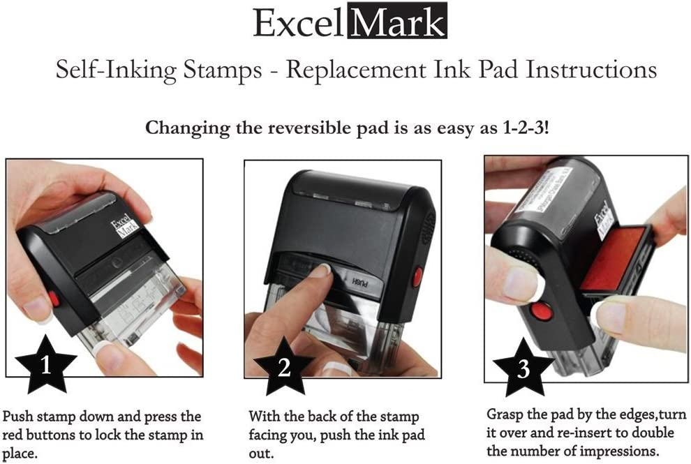 Shipped Self Inking Rubber Stamp Red Ink