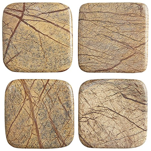 Pier 1 Imports Rohan Bronze Marble Drink Coaster Set by Pier 1 Imports