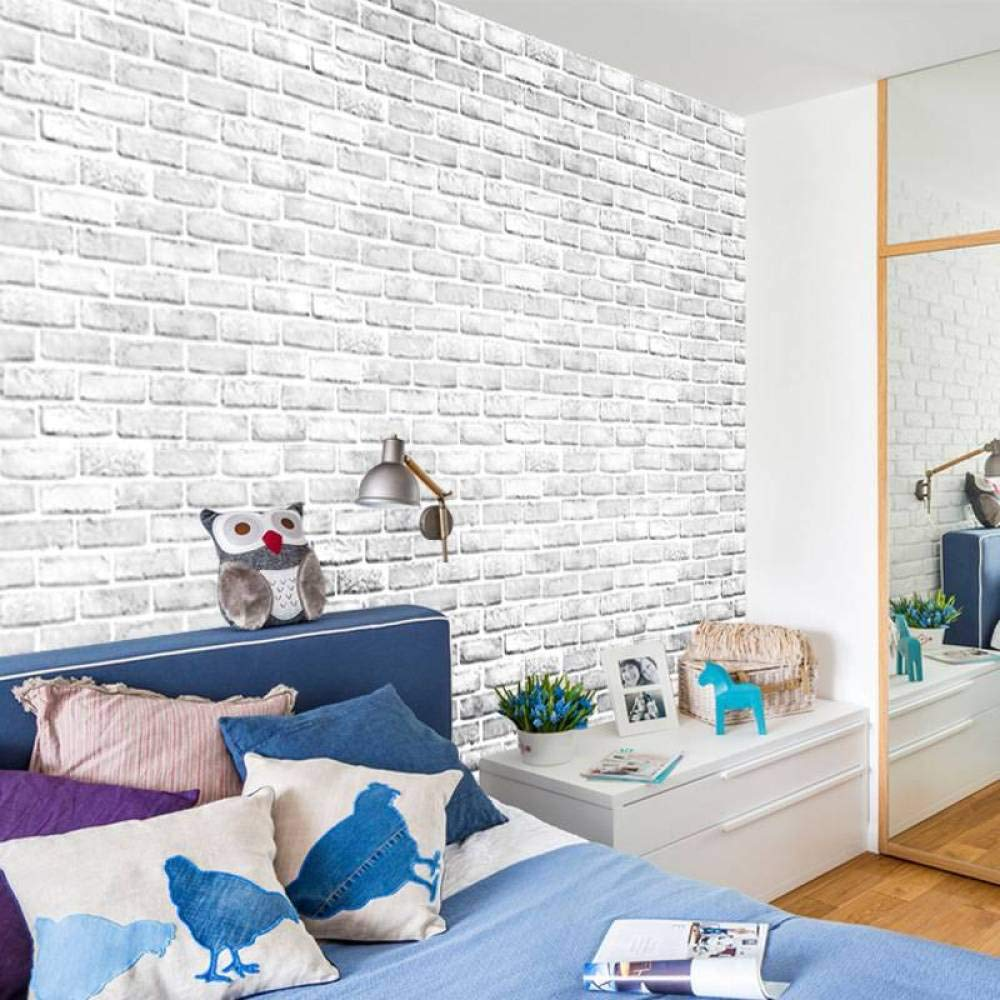 Amazon Com Wlbag Modern White Brick Wall Stickers For Kids Bedrooms