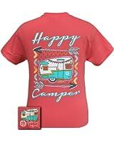 Girlie Girl Originals Happy Camper T-Shirt Coral Silk