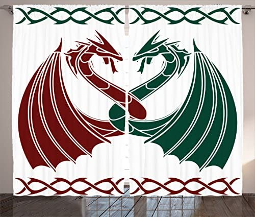 Ambesonne Celtic Curtain