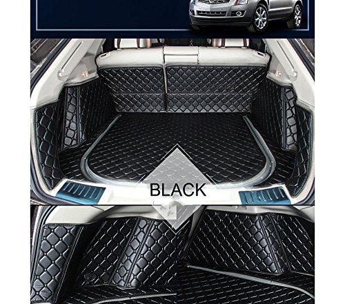 Fly5D Full Cover Trunk Mat Cargo Mats Boot Liner Car Carpet Waterproof For Toyota Prius 2009-2015 (Toyota Prius 2009-2015, Black)