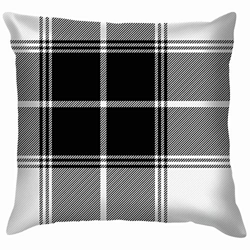 Tartan Gabardine Fabric Scottish Cage Black Throw Pillows, used for sale  Delivered anywhere in Canada
