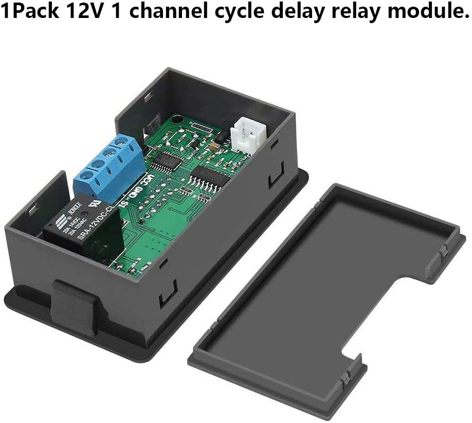 DC12V 20A 1500W Digital Display Time Delay Relay Timing Timer Cycling Module Kit