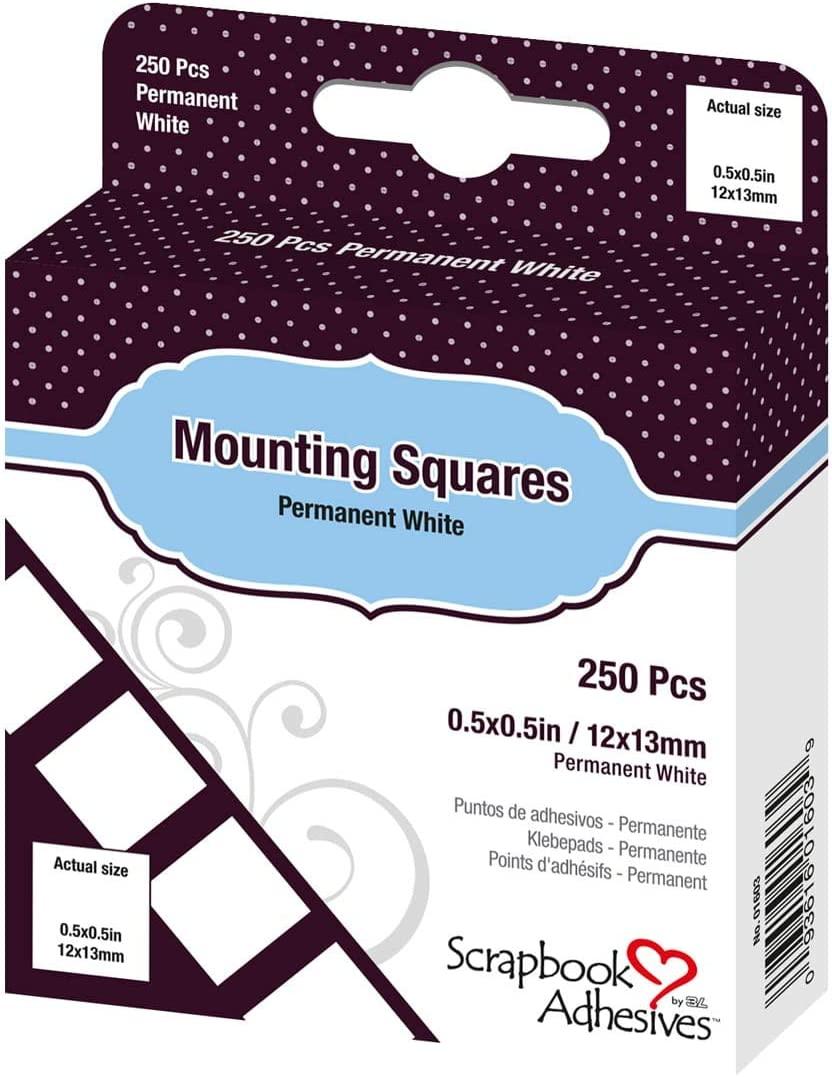 SCRAPBOOK ADHESIVES BY 3L Cuadrados de Montaje, Blanco, 250-Pack: Amazon.es: Hogar