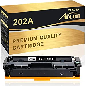 Arcon Compatible Toner Cartridge Replacement for HP CF500A 202A Toner Cartridge HP Laserjet Pro MFP M281fdw M281cdw M281dw M254dw M254dn M254nw M281fdn M281cdw M280nw M281 M254 Printer Ink (Black 1PK)