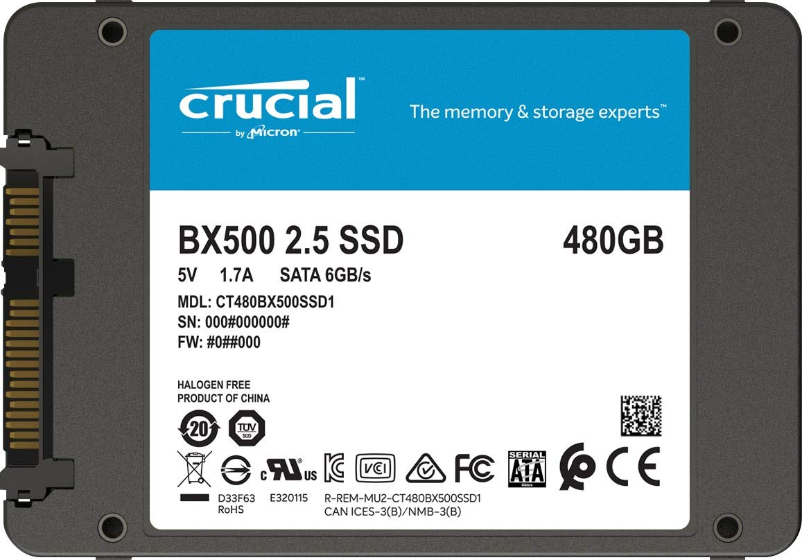 Amazon Com Crucial Bx500 480gb 3d Nand Sata 2 5 Inch Internal Ssd