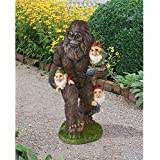 Design Toscano QM16042 Schlepping Gnomes Bigfoot Yeti Garden Statue, 16 Inch, Full Color