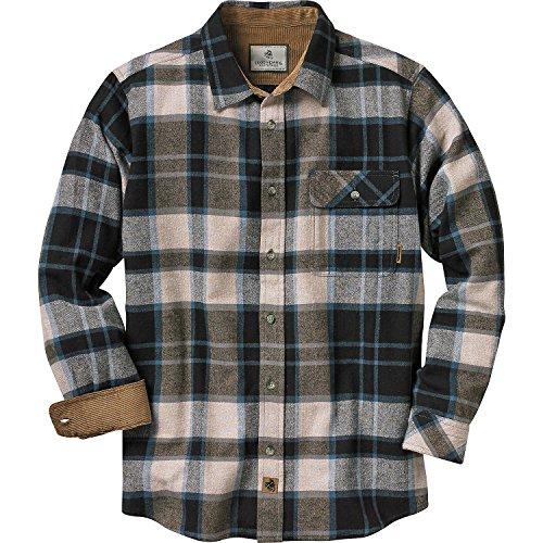 Legendary Whitetails Men's Buck Camp Flannel Shirt (Slate Shadow Plaid, - Shadow Shirt Plaid