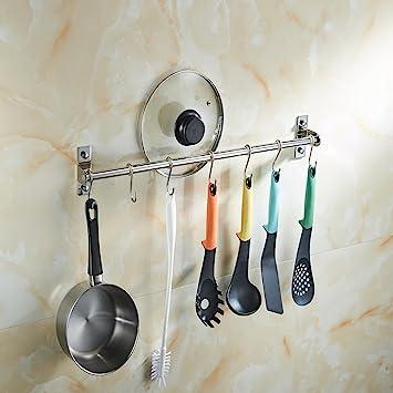 Angker - Soporte de acero inoxidable para colgar en la cocina, barra de colgar multifunción