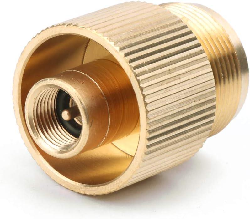Outdoor Stove Connector Gas Tank Adapter Converter Propane Refill Connector