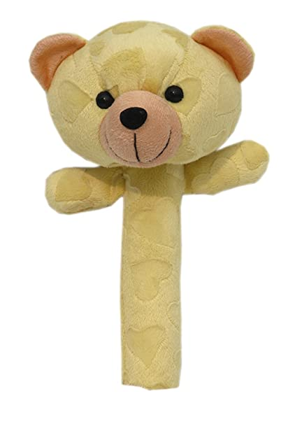 Buy Baby Soft Toys Yellow Teddy Rattles For Baby Boy Girl