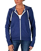 Abbot + Main Women's Full Zip Fleece Hoodie-Blue, Royal Blue
