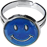 USport Special Girls Smiley Face Adjustable Color Changing Mood Ring Emotion Feeling Ring