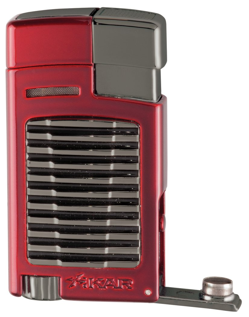 Xikar Forte Jet Flame Lighter - Red w/ G2 Trim
