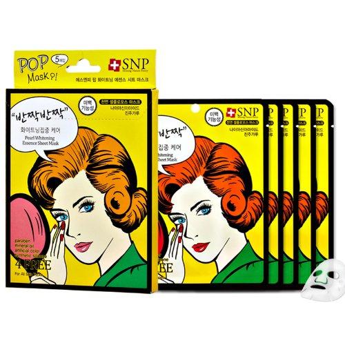 [SNP] POP Pearl Отбеливание Функциональная Уход за кожей Сущность Лист Маска 25g х 5p