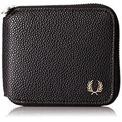 Fred Perry Men's Scotch Grain Zip-Around Wallet