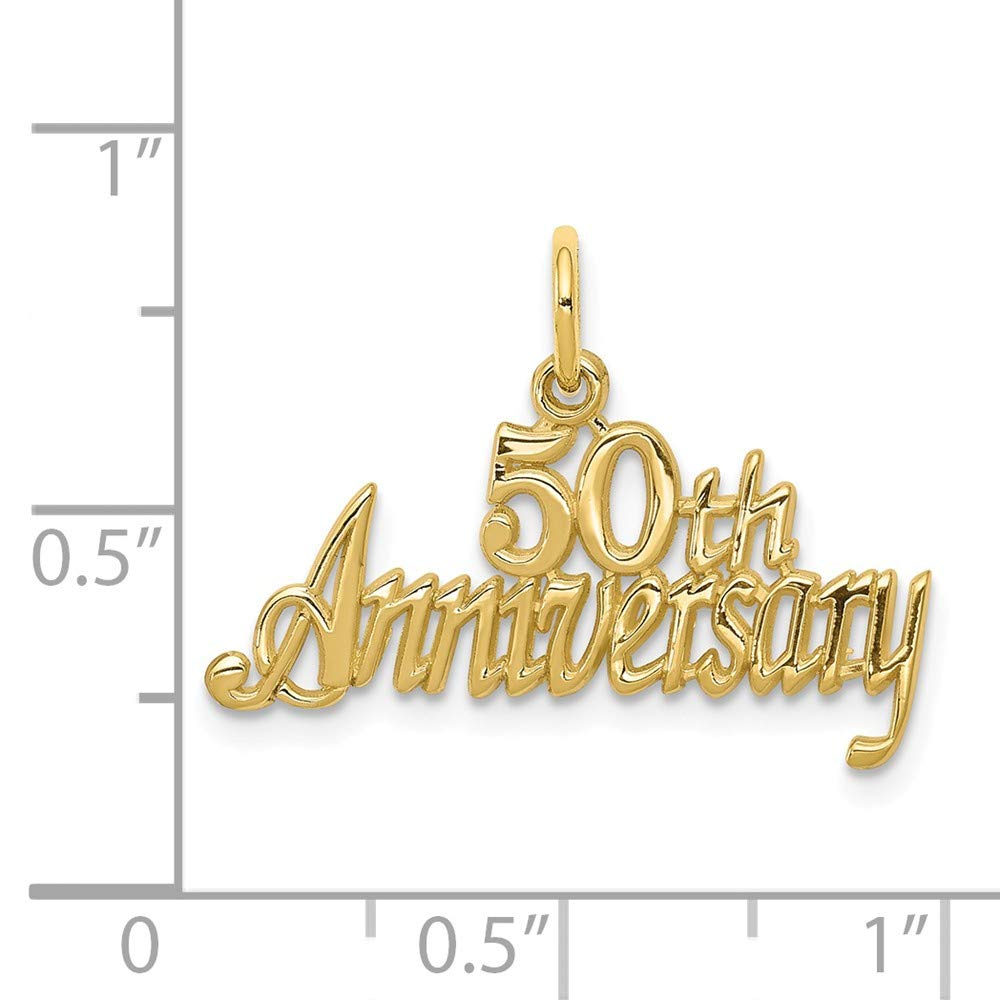 10K Yellow Gold 50th Anniversary Charm