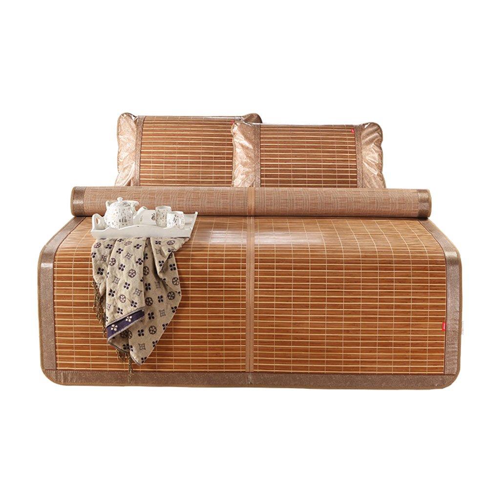 WENZHE Bambus Matratzen Sommer-Schlafmatten Strohmatte Teppiche Beidseitig Falten Carbonisierungsprozess Carbonisierungsprozess Carbonisierungsprozess Cool Zuhause, 1,5 1,8 M (größe   1.8×2.0m) B07CNZSPX6 Luftmatratzen Nutzen Sie Materialien voll aus aeecf0
