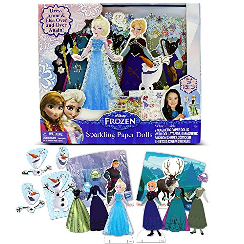 [Disney Frozen Sparkling Paper Dolls by Tara Toy] (Baby Anna Costumes Frozen)