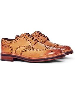 9a9c6d8d762b Grenson Derbies - Men - Archie V Black Brogue Shoes with Floral Toe and  White Sole