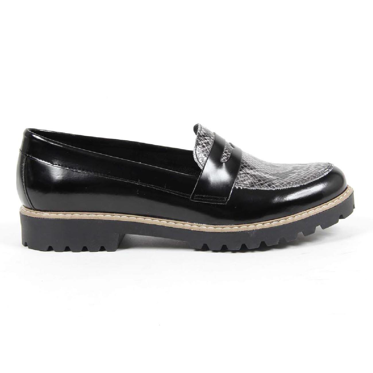 Versace 1969 - Mocasines de 100% Piel para Mujer Negro Negro, Color Negro, Talla 39 EU: Amazon.es: Zapatos y complementos