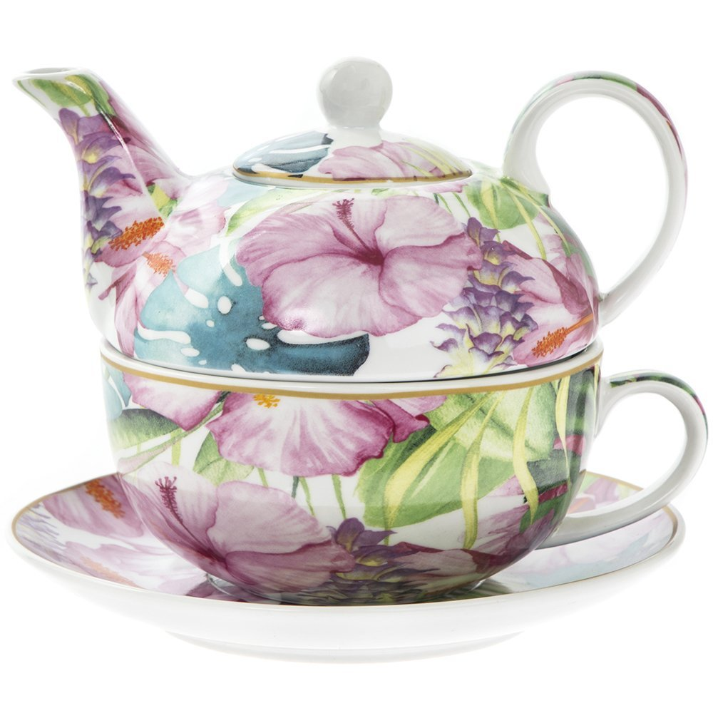 'Tropisches Paradies Tee-Set für eine Person, in Geschenkbox Lesser and Pavey