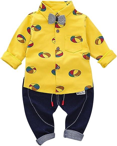 Camisa a cuadros niño 12 meses camiseta para niños top bautizo ropa niño 12 meses 24 mesi amarillo: Amazon.es: Bebé