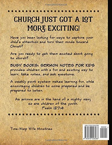 Busy Books: Sermon Notes for Kids: Madison Schacht, Darlene