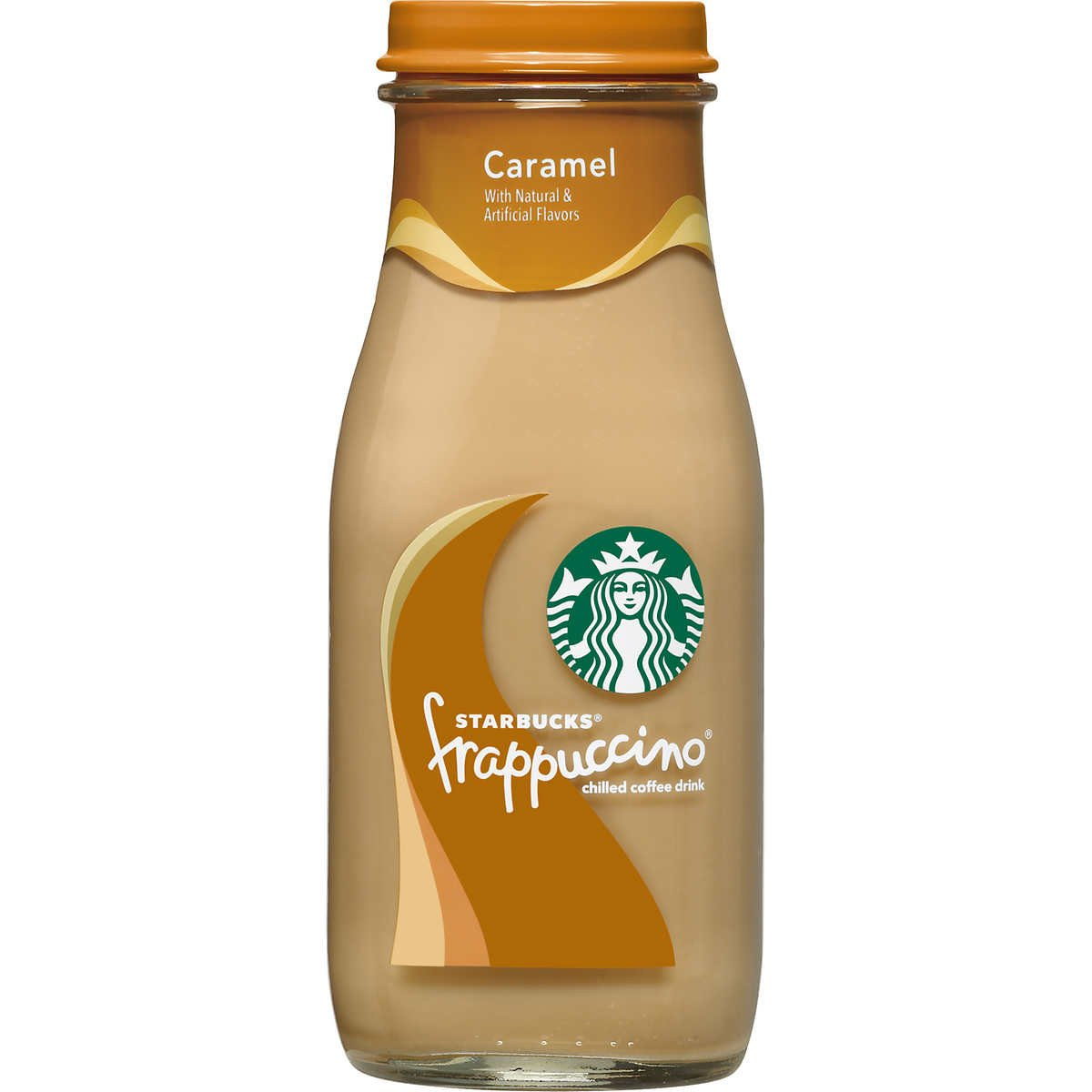 Starbucks Frappuccino Coffee Drink 9.5 oz Glass Bottles (15-Pack) (Caramel)