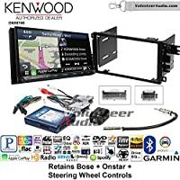 Volunteer Audio Kenwood DNX874S Double Din Radio Install Kit with GPS Navigation Apple CarPlay Android Auto Fits 2003-2005 Chevrolet Blazer, 2003-2006 Silverado, Suburban (Bose, Onstar, SWC)