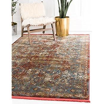 Amazon Com Unique Loom Baracoa Collection Bright Tones