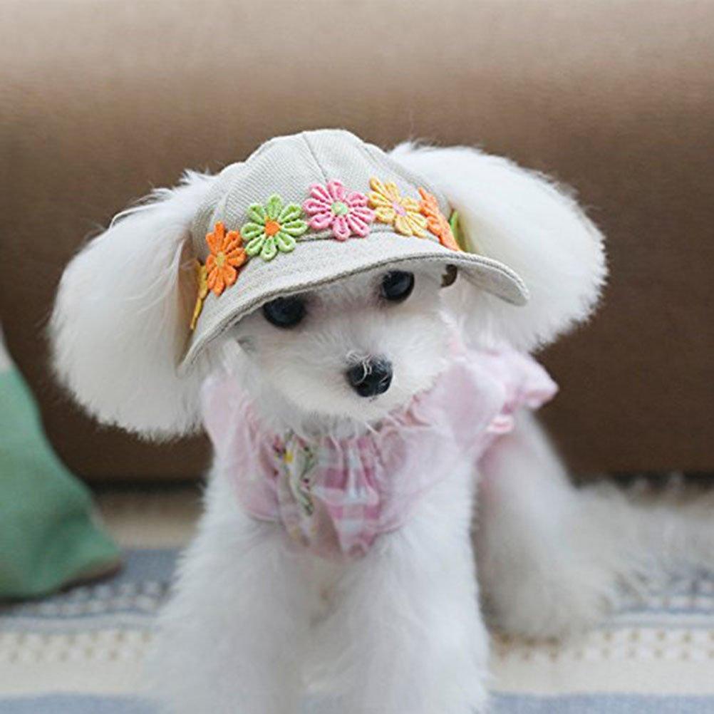 UEETEK Cane gatto cucciolo Chihuahua animali Sport Cap secchio cappello visiera Sunbonnet - taglia M