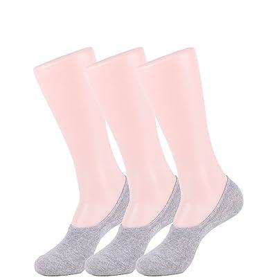10STAR11 Men's 3,5,6,8 Pair Durable Non Slip Heel No Show Liner Socks