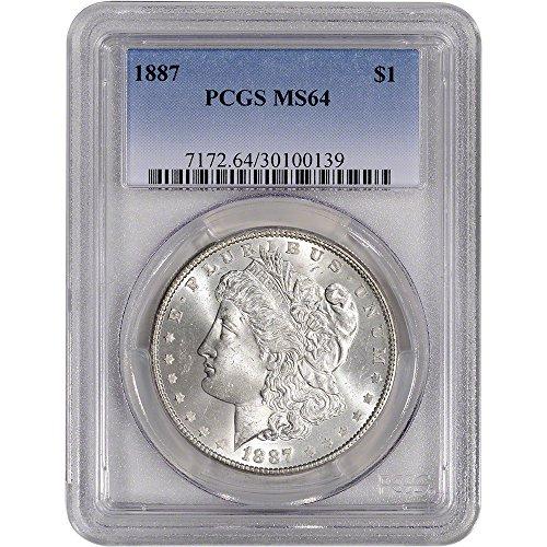 1887 US Morgan Silver Dollar $1 MS64 ()