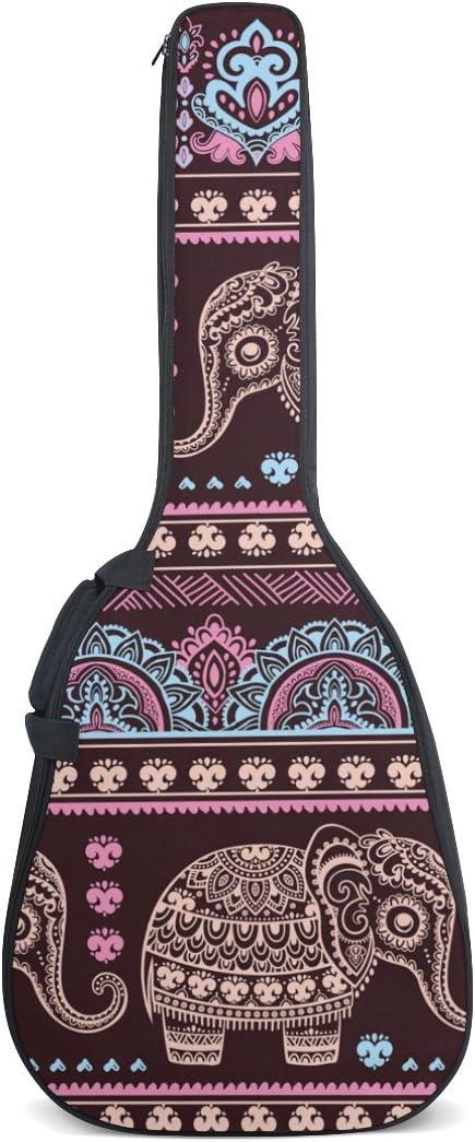 Hippie Mandala de India Elefantes funda para guitarra resistente ...