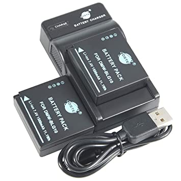 DSTE DMW-BLG10 Li-ion Batería (2 paquetes) Traje y cargador micro ...