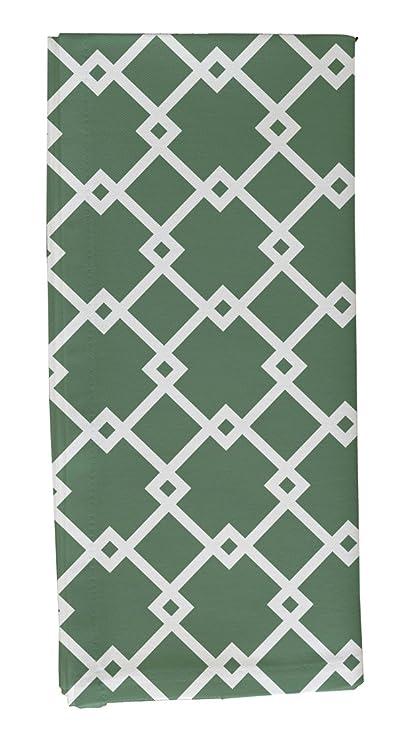 Amazon com | E By Design Link Lock Geometric Print Napkin, 19
